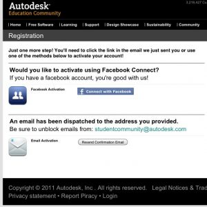 Autodesk Education Community register3