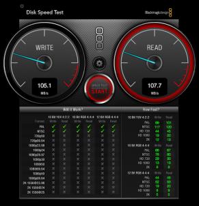 ST9500423AS 500GB1台でのスピード。