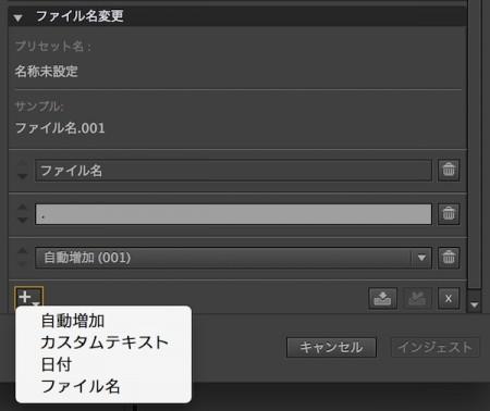 インジェスト時にファイル名を変更する事ができます。