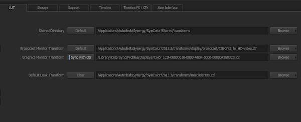 Sync with OSをチェックしシステムで使用されているiccプロファイルを自動で割り当て