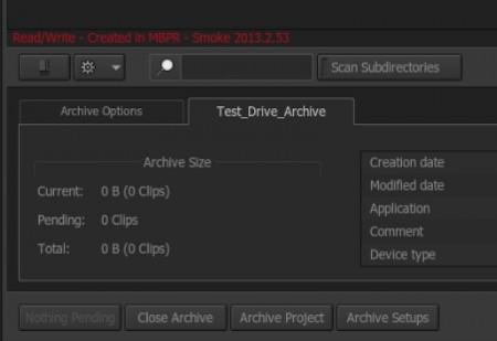 プロジェクトアーカイブの場合は「Archive Project」を選択。Ext1ではアーカイブの状態が赤字で表示されるようになりました。