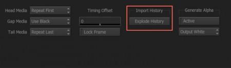 CFXを適用したクリップはExplode Historyを押して展開し、Input Settingsにアクセスできます。