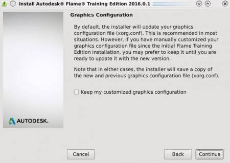 書き換えない場合は「Keep my custom graphics configuration」にチェック