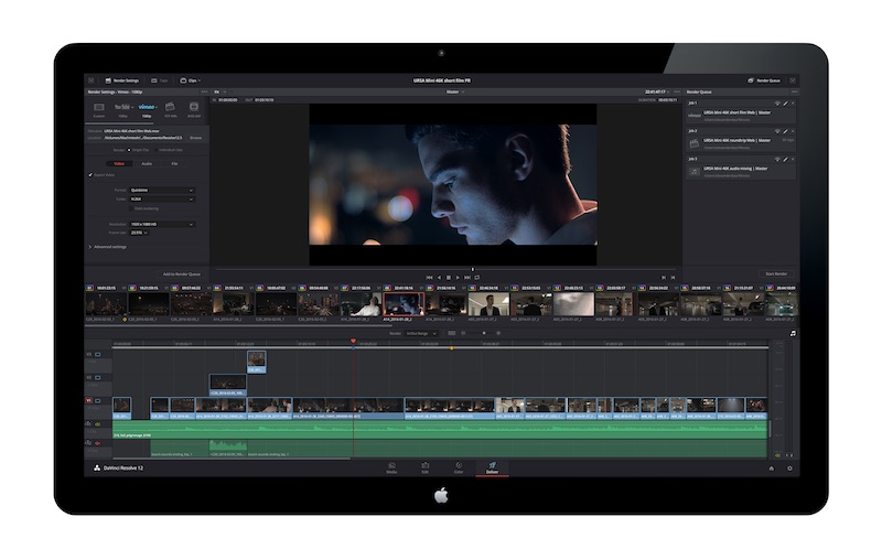 DaVinci Resolve 12.5 Deliver Page