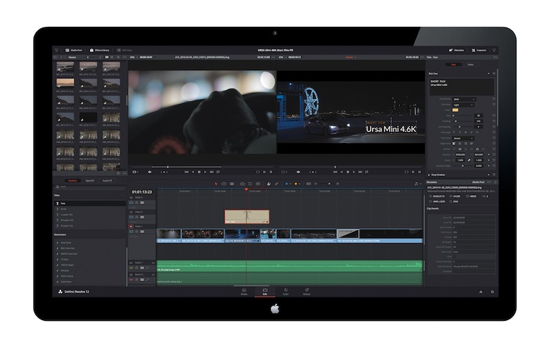 DaVinci Resolve 12.5 Edit Page