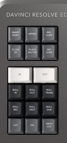 編集キーボード 左側