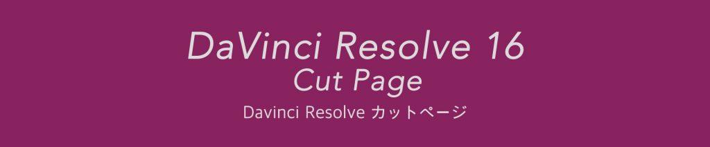 DaVinci Resolve 16 カットページ インターフェース