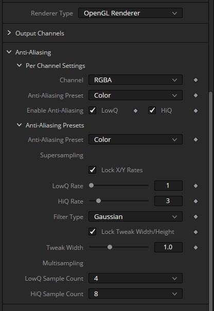 OpenGL Renderer マルチサンプリング