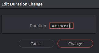 継続時間を変更するポップアップ