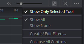 「Show Only Selected Tool」