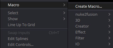 「Macro」>「Create Macro」
