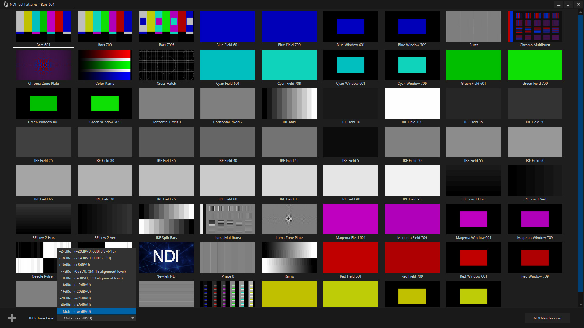 NDI Test Patterns