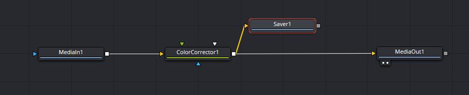 ToolsのI/Oから「Saver」をドラッグ