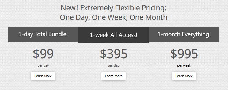 1日、1週間または1ヶ月間単位の価格オプション