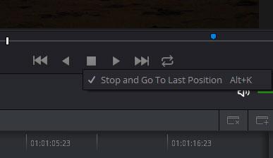 停止時に最初の位置に移動するオプション