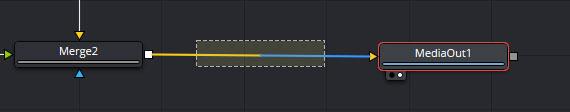 Shiftを押しながらそのノードをドラッグして他のノードの接続線上で線が青く変わった状態で離す