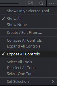 「すべてのコントロールを表示」 (Expose All Controls)